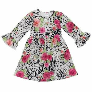 Other - 3XL (8) boutique floral cheetah boho flare dress